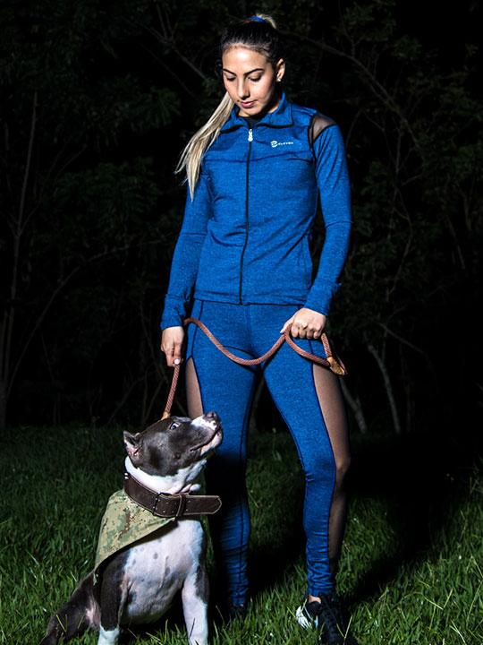 Leggin y Chaqueta Azul